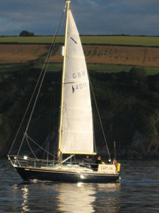 own boat tuition with Olsen Marine, Devon